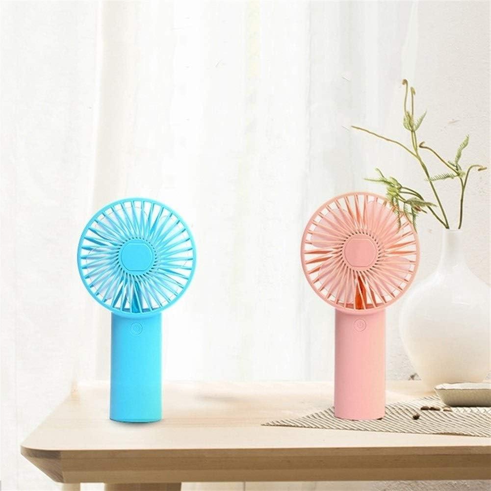 Color : Blue Mini Portable Cooling Fan Portable Mini Handheld Fan USB Wind Blower Ventilation Fan for Laptop Computer Stand Fan