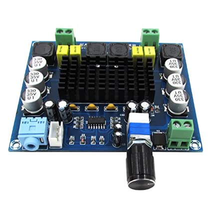 AOSHIKE TPA3116D2 Dual Channel Digital Audio Amplifier Board Amplificador 120WX2 DC 12V-24V