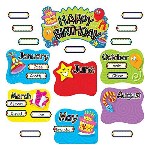 TREND Happy Birthday Mini Bulletin Board Set, 47-Pieces