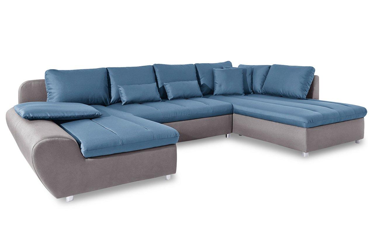 Sofa Sit More Wohnlandschaft Bandos Xxl Flachgewebe Hellgrau