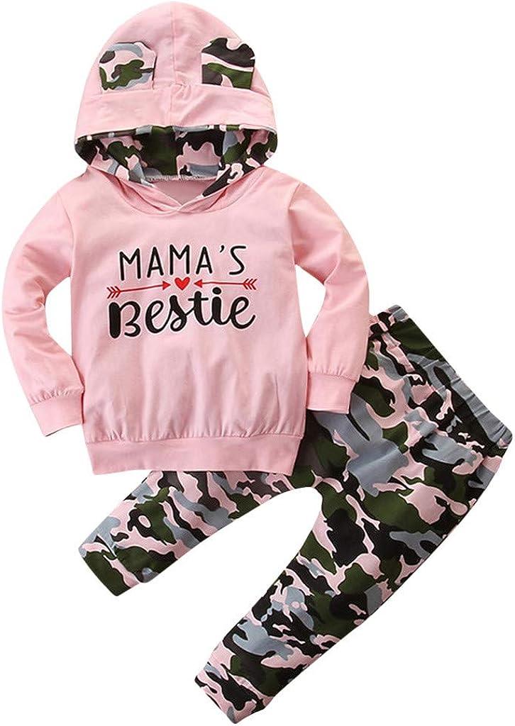 DressLksnf Kids Baby Girls Tracksuits Leopard Print Hoodie Sweatshirt Tops Trousers Hoodies Sportswear Outfits Set