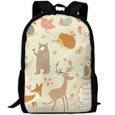 ZQBAAD Forest Animals Luxury Print Men And Women's Travel Knapsack