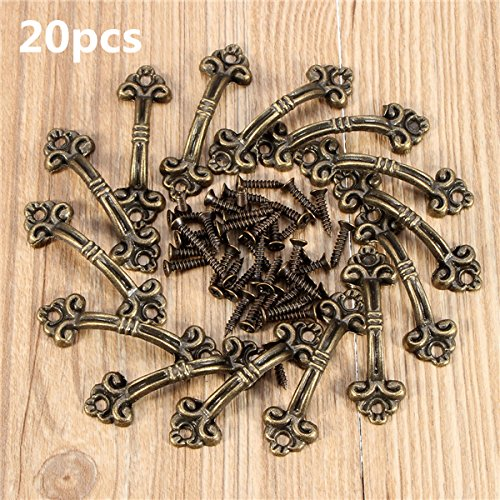 MYAMIA 20Pcs 4.8 x 1.5 Cm Gabinete Asas Perillas Bronce Encanto Conectores con Tornillos