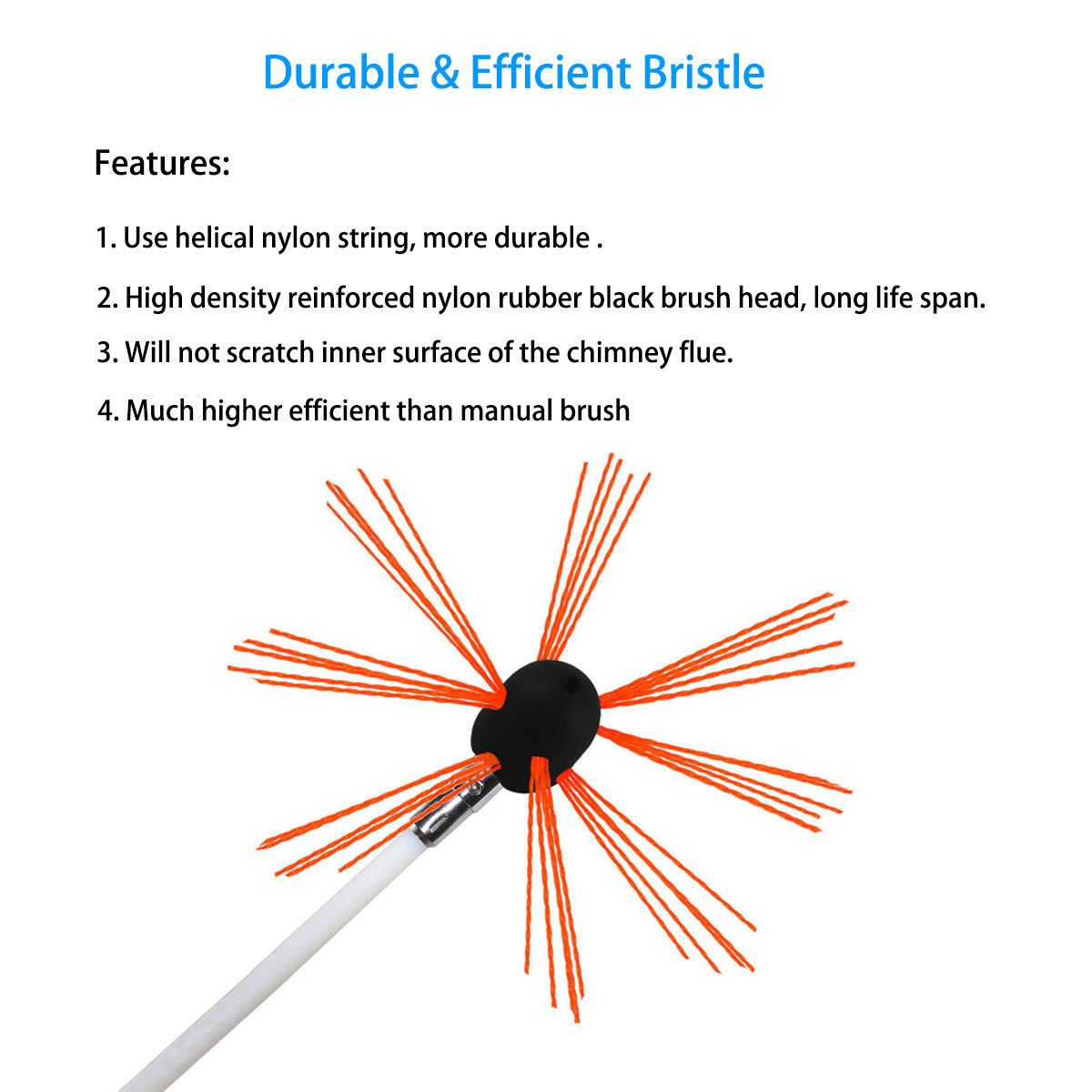 amazon com chimney brush electrical drill drive sweeping cleaning