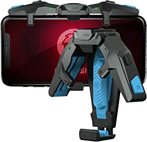 GameSir Mobile Trigger,Mobile Game Controllers F4 Falcon,Foldable Plug and Play Gaming Trigger for iOS and Android Phone(PUBG/Fortnite/Rules)(4.5-6.5 inch)