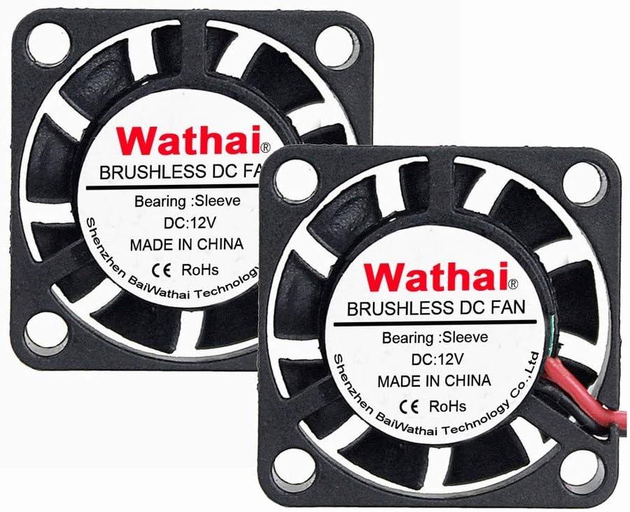 2pcs Wathai DC Brushless Cooler Cooling Fan 25mm x 7mm 5V 2Pin