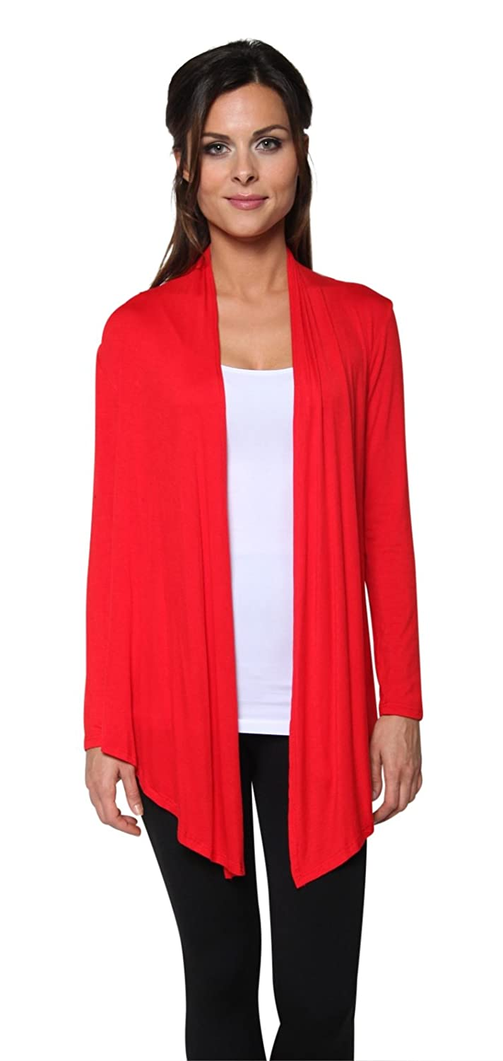 Free to Live Women's Light Weight Open Front Cardigan Sweater Made ...
