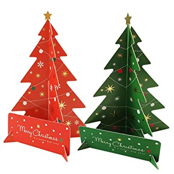 Amazon Ying 10 Pcs Christmas Centerpieces 3d Paper Xmas Tree