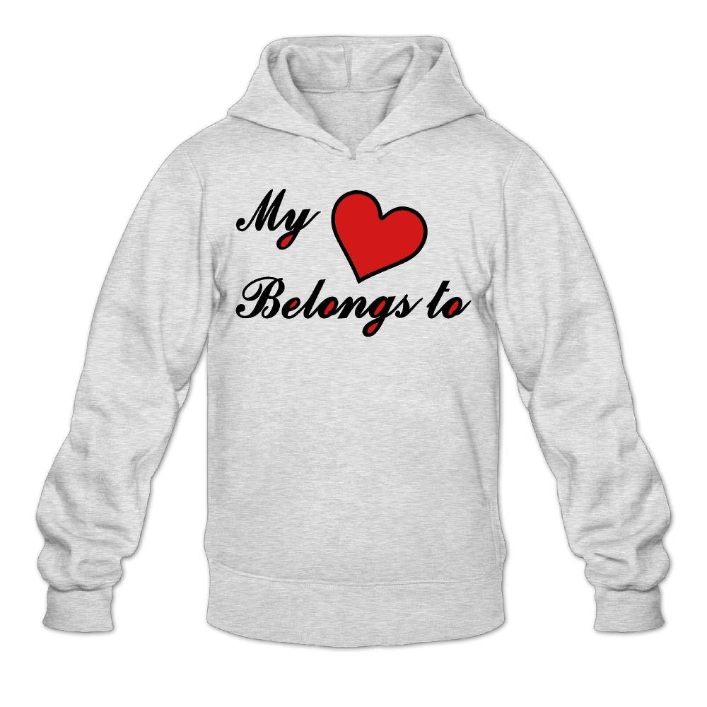Artphoto Mens Graphic My Heart Belongs To Hoodies Sweatshirt