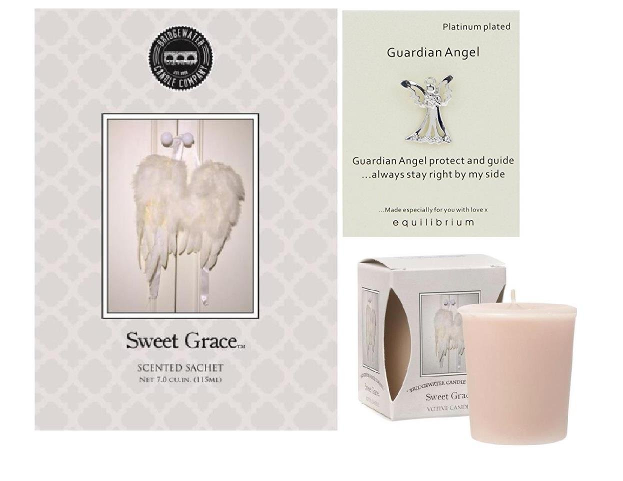 Pack of 3 Guardian Angel Sweet Grace Scented Sachet Votive Candle Set Bridgewater equilibrium