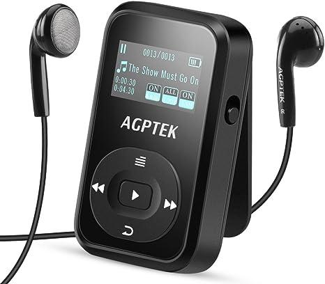 Amazon.com: AGPTEK - Reproductor MP3 con clip: Electronics