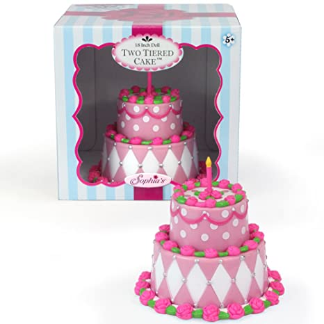 Buy Tiered Doll Cake Perfect for 18 Inch American Girl Doll Food ...