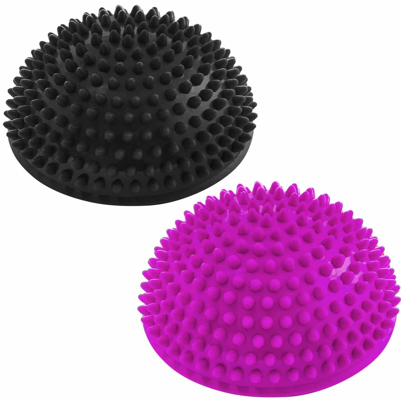 Ideal f/ür Balance-Training 320g zirka 8cm hoch und 16cm Durchmesser in blau t/ürkis oder schwarz. rot #DoYourFitness 2er-Set Balance-Kugeln /»Igel/« zur Steigerung der Balance//Koordination