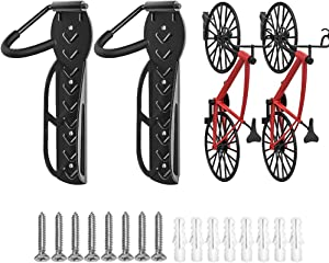 TORACK Bike Hanger, 2-Pack Heavy Duty Garage Bike Rack Wall Mount Vertical Bike Storage for Indoor Shed