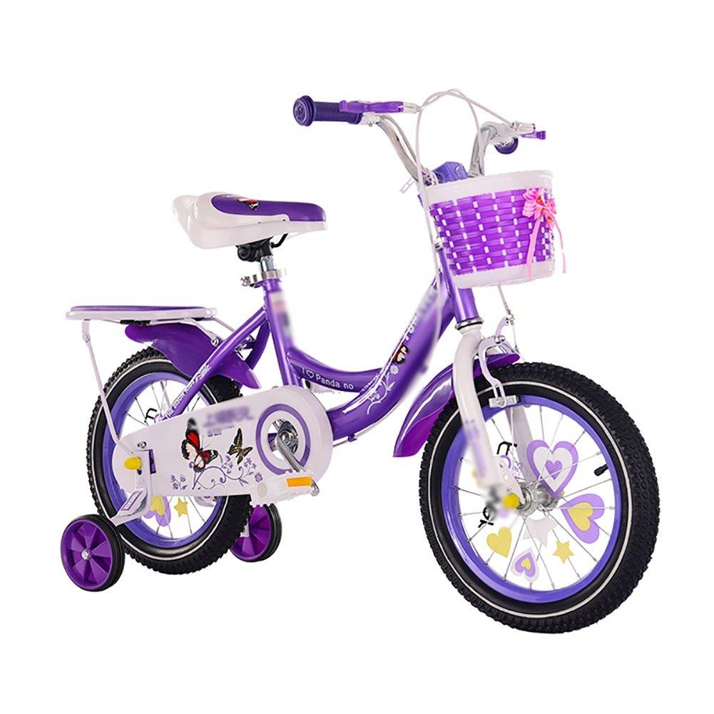 子供用キャリッジバイク12 14 16 18インチガールボーイベビーサイクリング2-3-6歳児用自転車ピンクローズレッドパープル B07DVW592P 16 inch|パープル ぱ゜ぷる パープル ぱ゜ぷる 16 inch