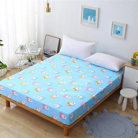 huyiming Sábanas de algodón engrosadas Dormitorio de Estudiantes Individual Doble 1.21.51.8 Funda de colchón de algodón otoño e Invierno 180X200 + 30: Amazon.es: Hogar