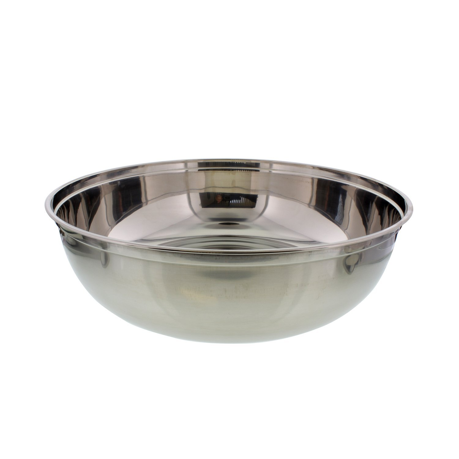 Cheftor 10qt 16'' Large Stainless Steel Mixing Bowl for mixing batter, kneading dough, marinades, salads and more!