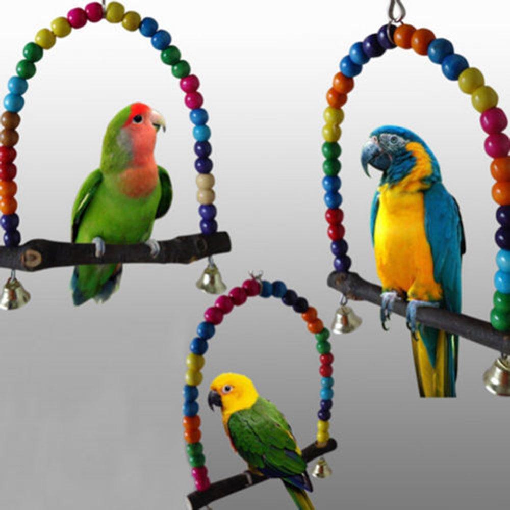 Cute Pet Bird Bites jouet en bois balançoire Perroquet à mâcher Jouets Finch perruche calopsitte élégante inséparables Rainbow Bridge Ruimin