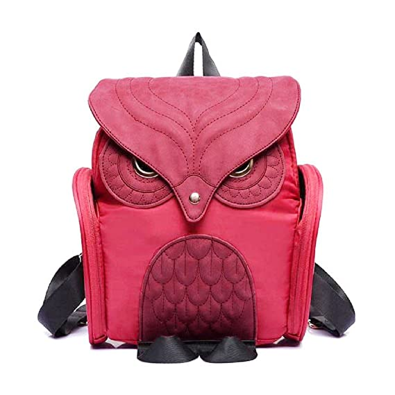 Amazon.com | Egmy® 2016 Fashion Women Leather Owl Backpack Female Mujer Mochila Escolar Feminina School Bag (Black) | Kids Backpacks