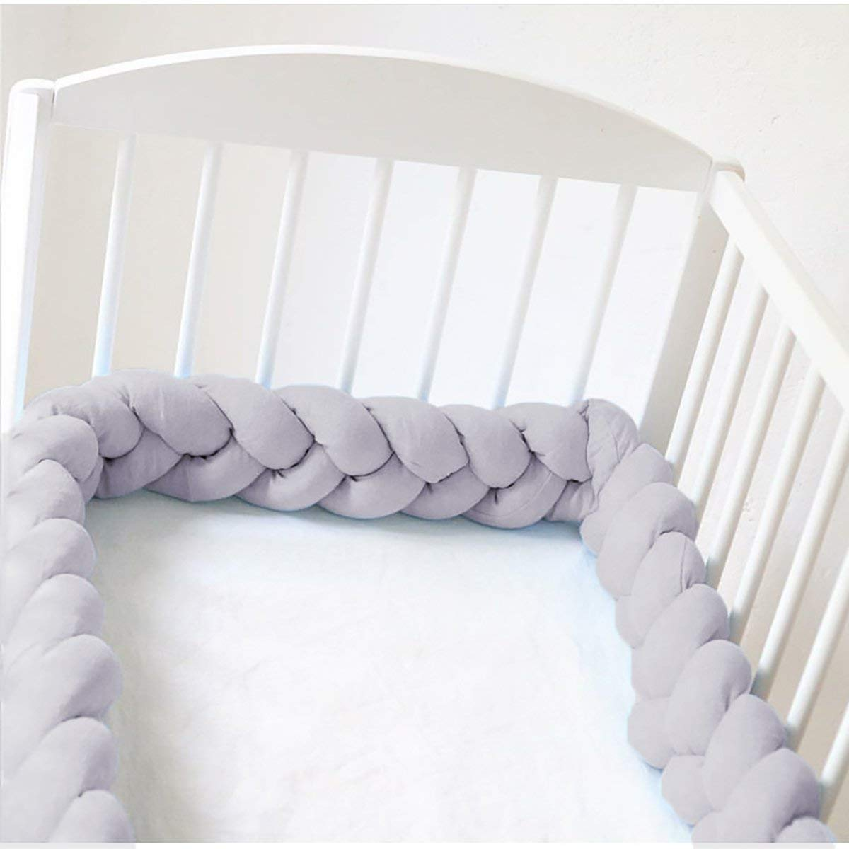 Blau, 200CM HEQUN Baby Nestchen Bettumrandung Weben Kantenschut Kopfschutz Sto/ßf/änger Dekoration f/ür Krippe Kinderbett Bettumrandung 200 cm