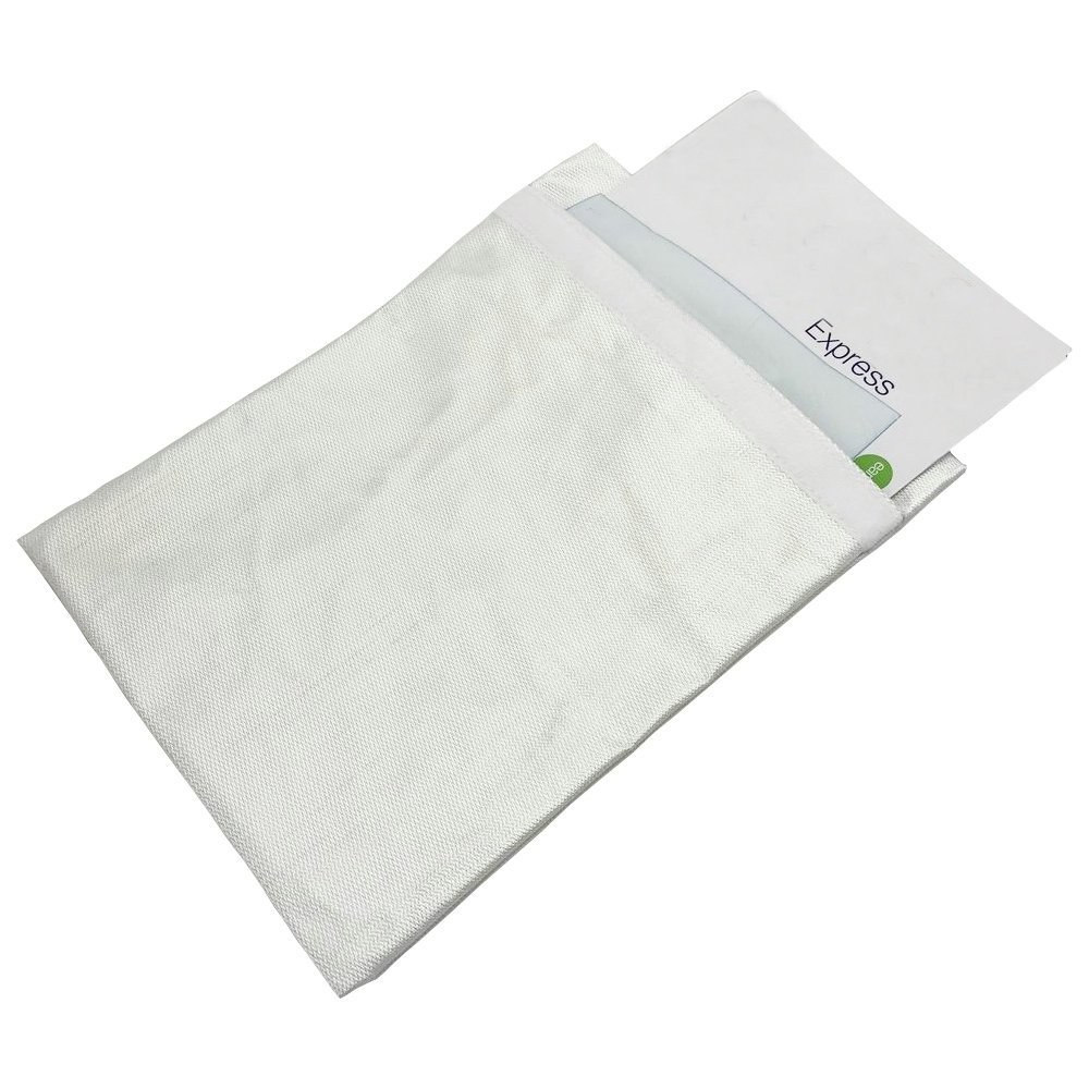 MZLOTS Fire Resistant Document Bag Fire proof Envelope Bag Glass Fibre Fire Prevention Bag Fireproof File Pouch White Color 15×11 Inch