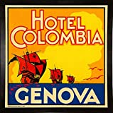 Frame USA Hotel Colombia, Genova-PRIPUB129036 Print 17.75''x17.75'' by Print Collection in a Affordable Black Medium