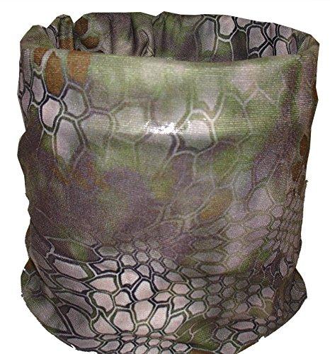 - 3D Green Snake Skin Camo Camoflauge Multi Function Headwear Head Wrap Scarf Bandanna Durag Skull Cap