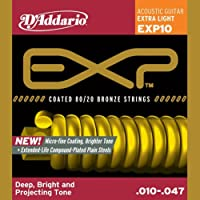 D'Addario EXP10 Akustik Gitar Teli .010-.047