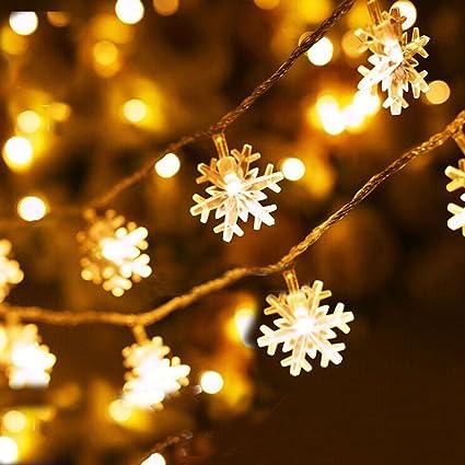 Snowflake Christmas Lights.Amazon Com Waterproof Snowflake String Lights Fairy Led