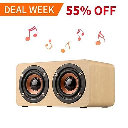 wireless speakers for office. Wolfarya Portable Wireless Bluetooth Speaker : 10-Hour Playtime, 10W Wood  Home Speakers With Wireless Speakers For Office