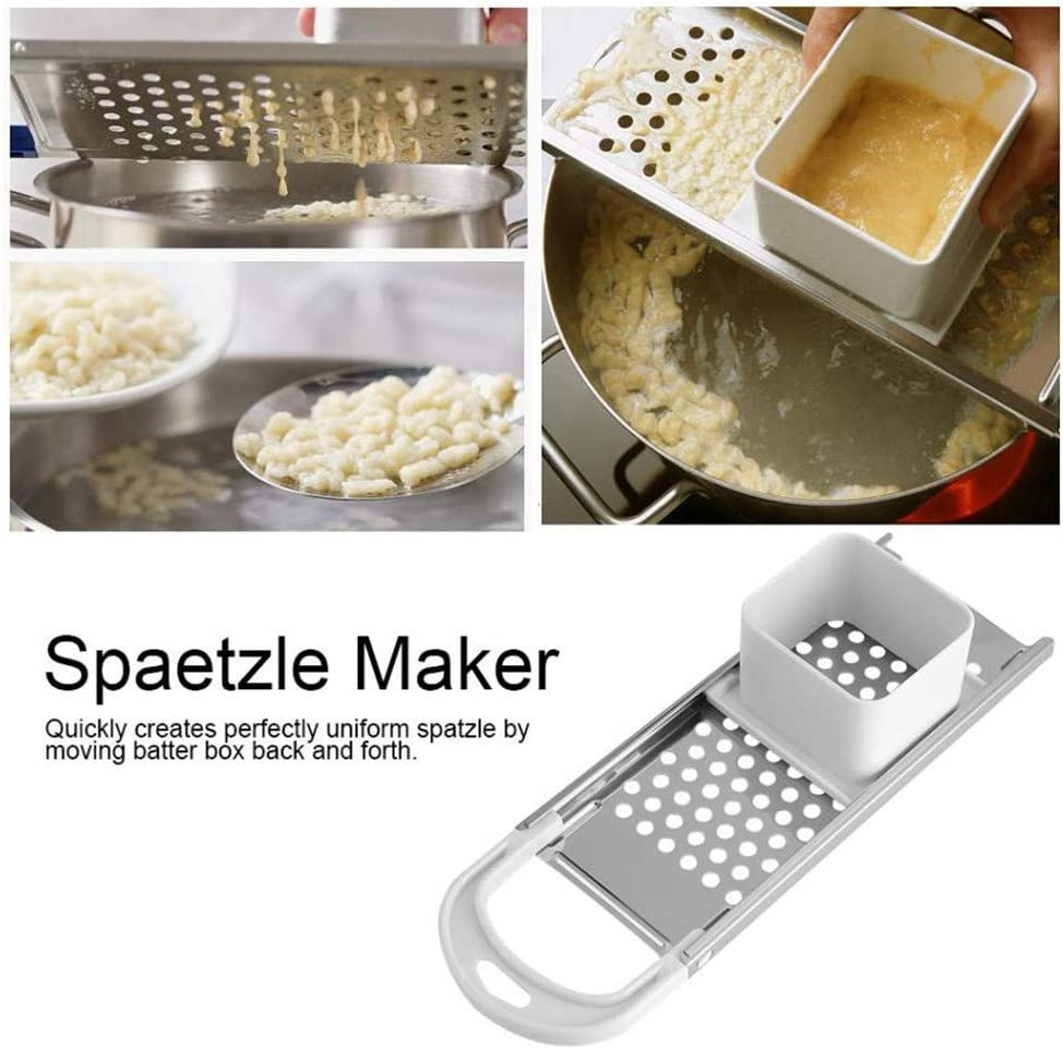 DIYARTS Spaetzle Maker Stainless Steel Multifunction Cooking Tools Manual Pasta Machine Kitchen Accessories for Homemade Spaetzle and Noodles