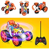 Blasland Remote Control Car - RC Vehicle Four Wheel Stunt Car, 360 Degree Rolling Rotating Rotation Stunt Car Toy, RC Stunt Toy Cars for Toddlers, Kids, Boys & Girls