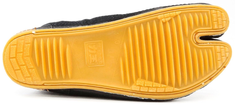Black Rikio JikaTabi Ninja Tabi Shoes Low Top Comfort-Cushioned JP 25cm approx. US Men size 7; Woman size 8