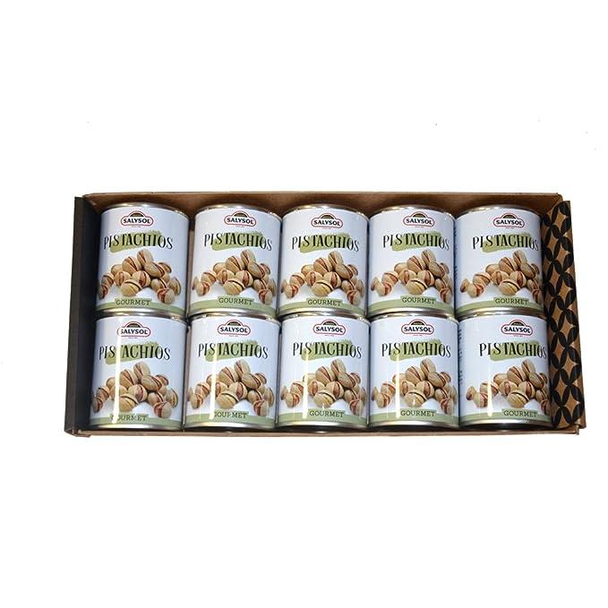 Frutos secos en lata Salysol Gourmet - Pistachos 50 g (PACK 10 UNIDADES): Amazon.es: Alimentación y bebidas