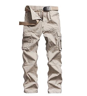 grande remise pour grand choix de 2019 taille 40 ZKOO Combat Pantalons Cargo Pantalon Multi Poches Coton Cargo Armee  Pantalon Cargo Pantalon De Travail pour Homme (sans Ceinture)