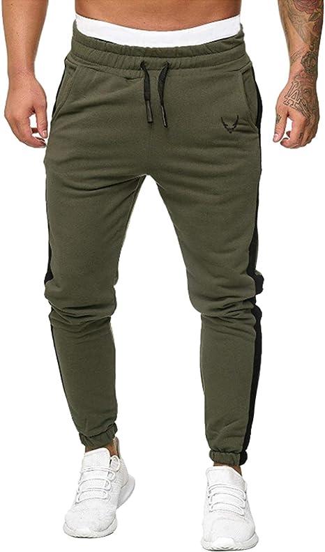 Legou - Pantalones de chándal para Hombre, Cintura elástica, con ...