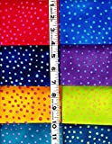 8 Fat Quarters Basic Bubbles By Laurel Burch From