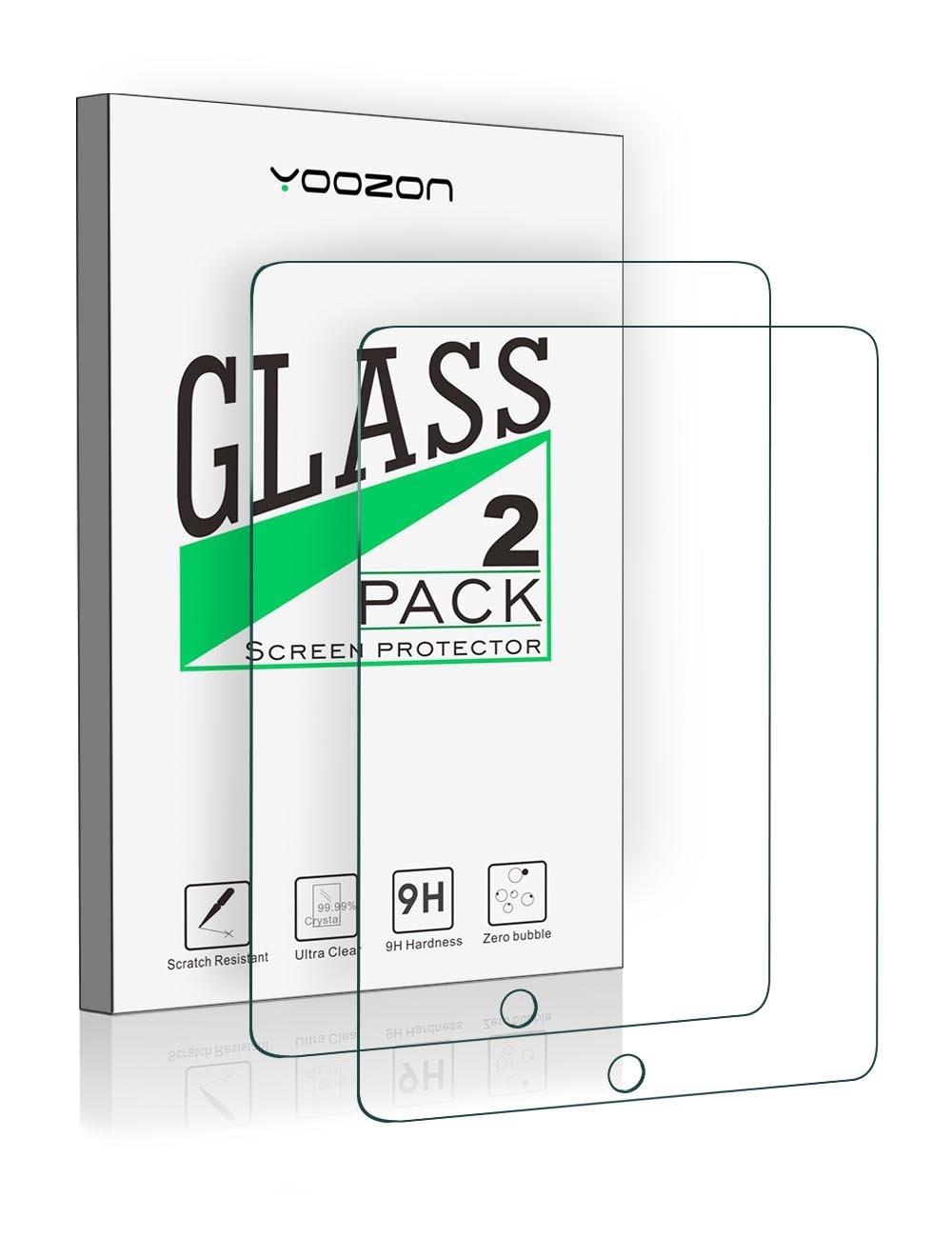 New iPad 9.7 Inch 2017/iPad Pro 9.7 Inch/iPad Air 2/iPad Air Screen Protector Glass [2-Pack],Yoozon Tempered Glass Screen Protector for Apple iPad Air, iPad Air 2, iPad Pro 9.7,iPad 9.7 [2-Pack]