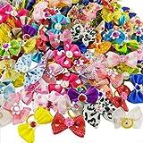Best Bows - Hixixi 50pcs/pack Pet Cat Dog Hair Bows Multicolor Review