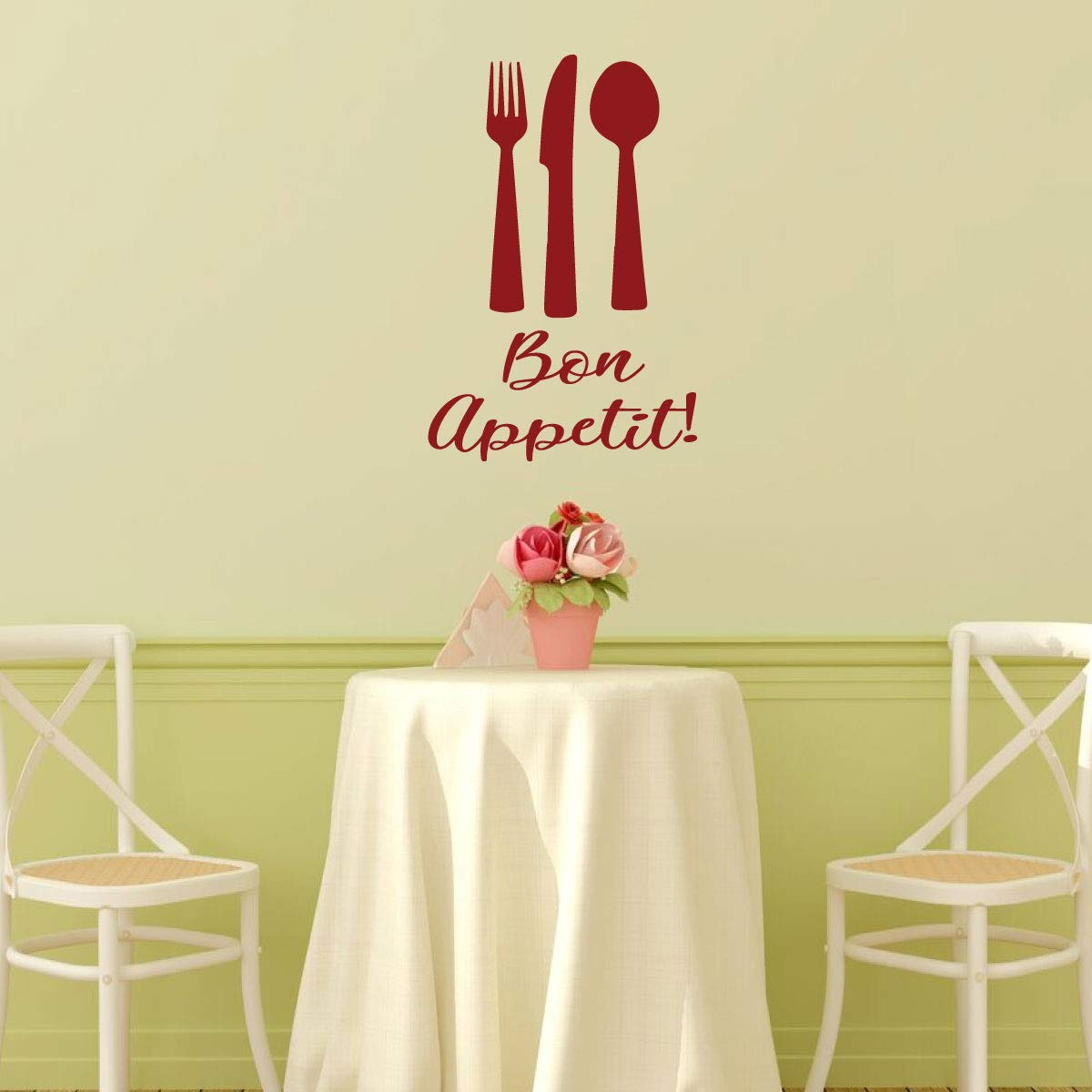 Amazon.com: Bon Appetit Wall Decal - Kitchen or Restaurant Themed ...