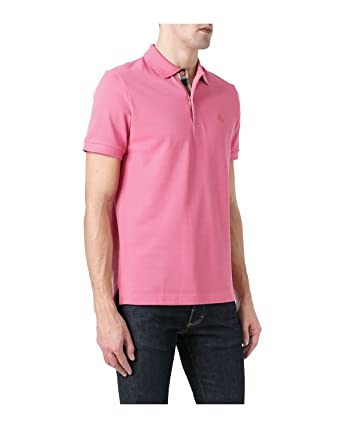 e014e8029a8b BURBERRY Brit - Polo pour Homme Oxford - Rose (City Pink), XXL ...