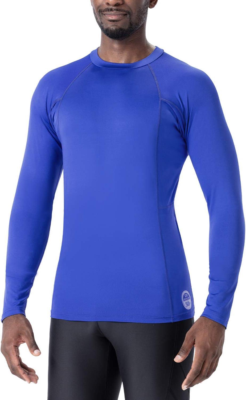 Naviskin Mens Long Sleeve Rash Guard Swim Shirts Compression Rashguard Sun Shirts UPF 50 Baselayer Sun Shirts