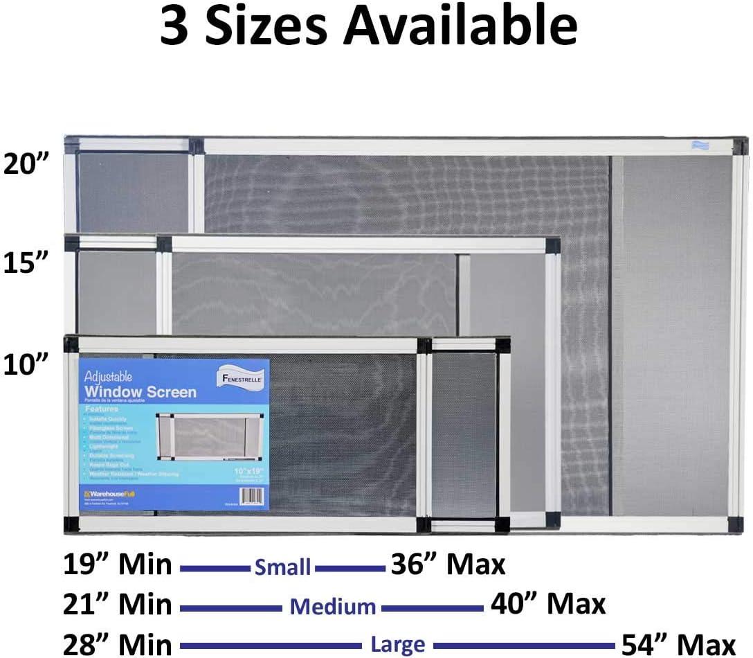 Fenestrelle ampliable ventana Protector de, 2 way ajustable, horizontal (15