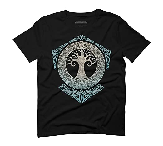 Design By Humans Yggdrasil.Tree Of Life. Men's Graphic T-Shirt:  Amazon.co.uk: Clothing