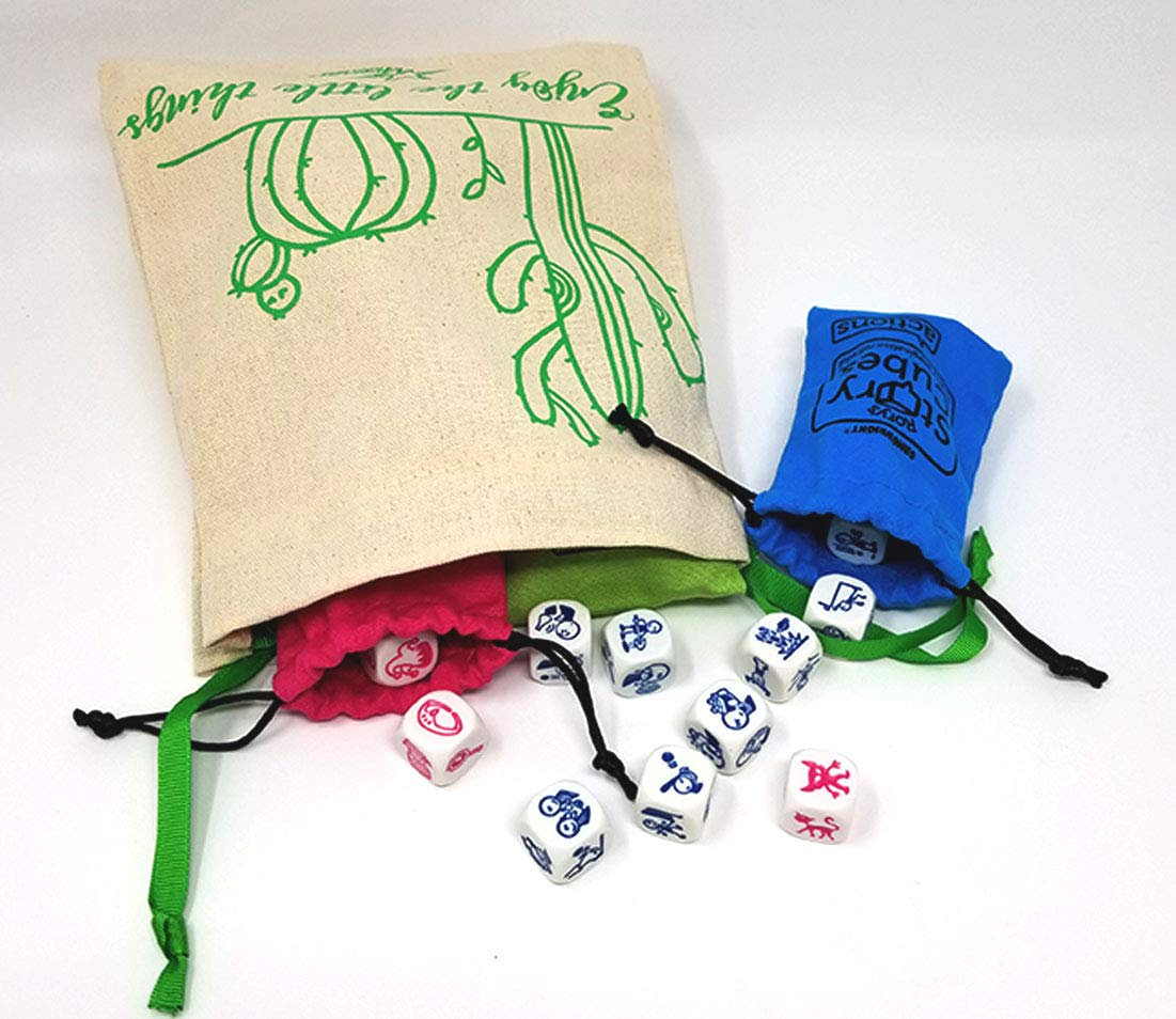 Rory's Story Cube Complete Set - Original, Actions, Voyages, Fantasia Games, & Drawstring Bag by Gamewright (Image #6)