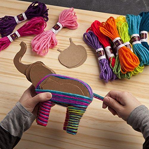 615JcoFecyL - Craft-tastic – Yarn Elephants Kit – Craft Kit Makes 2 Yarn-Wrapped Elephants