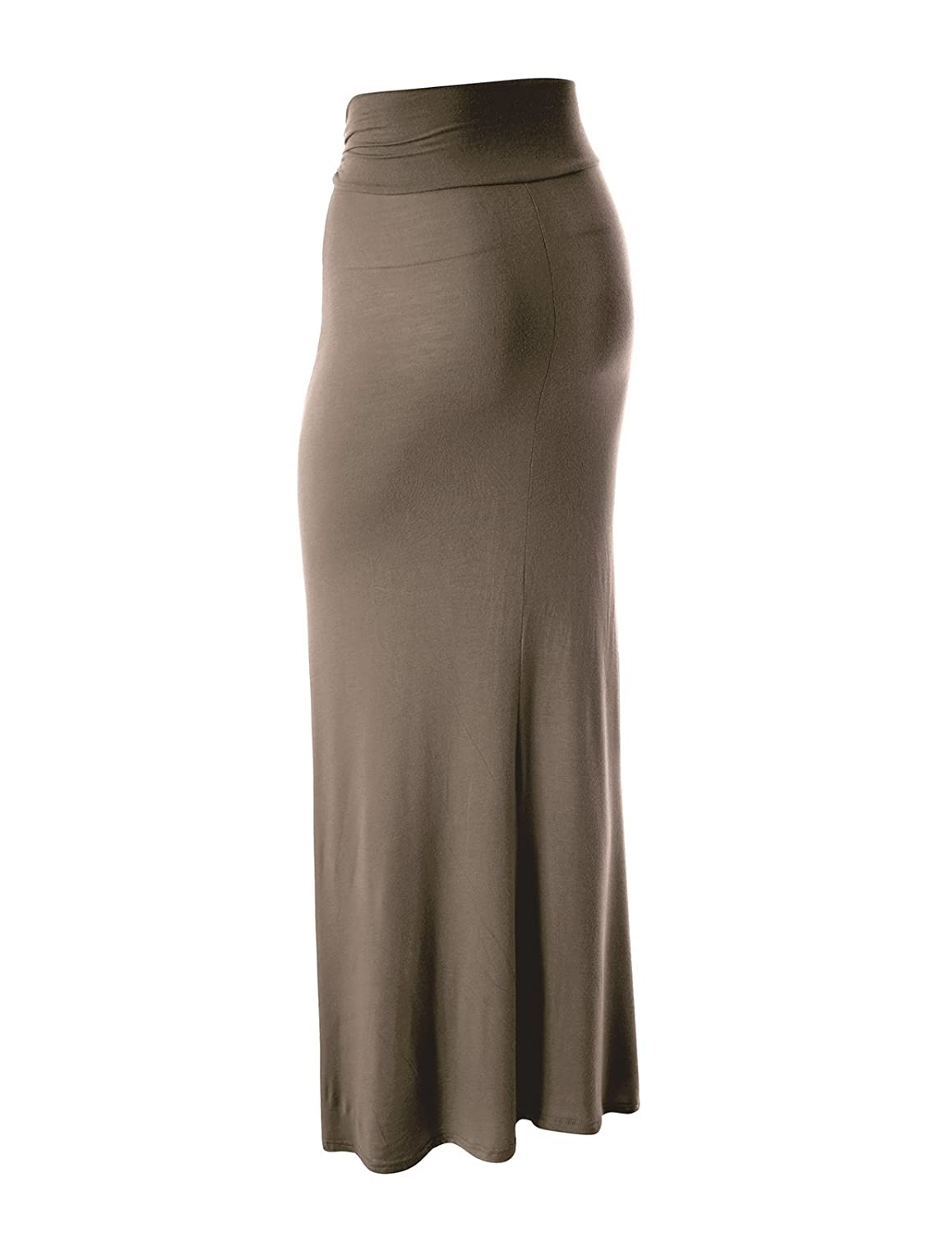 e05cd56c1 FLATSEVEN Womens High Waisted Flared Maxi Skirt (Made In USA) at Amazon  Women's Clothing store: