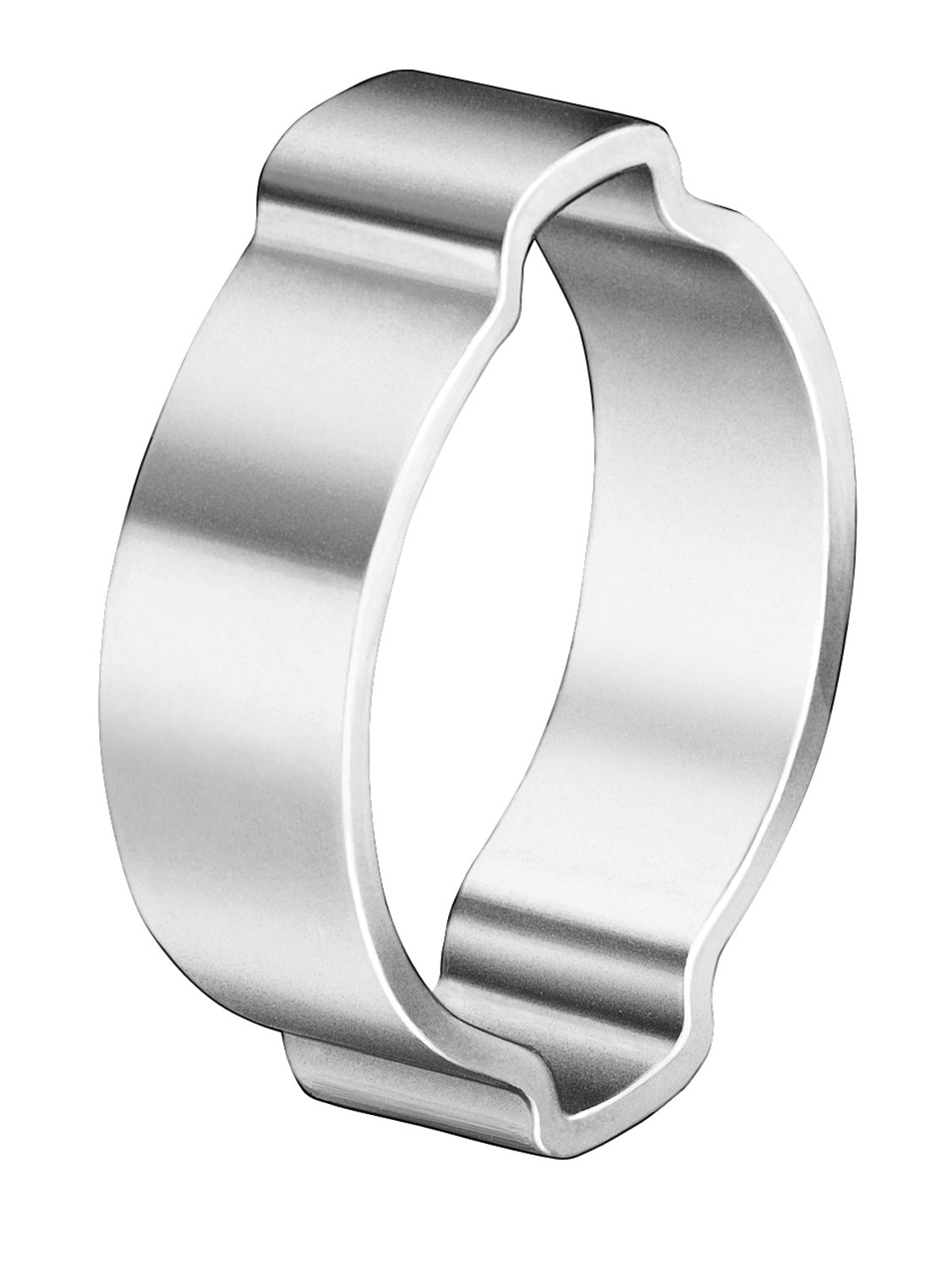 Oetiker 10100022 Zinc-Plated Steel Hose Clamp, Double Ear, Clamp ID Range 14 mm (Closed) - 17 mm (Open) (Pack of 100)