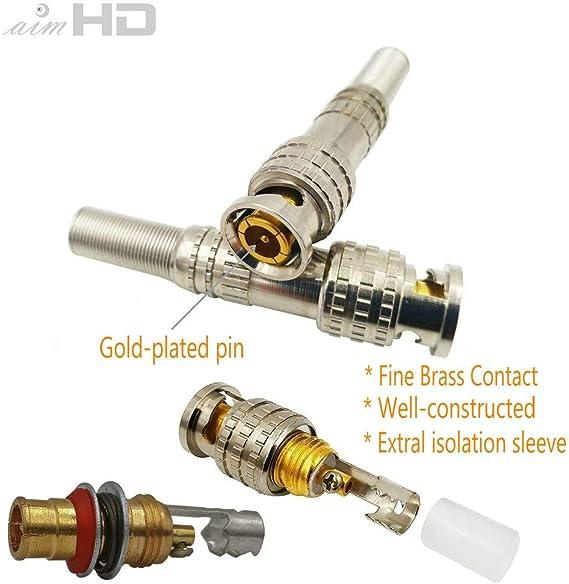 2PK 100ft BNC Male-Male Black RG-59 75 Ohm HD-CVI,HD-TVI,HD-SDI,HDTV Video Cable