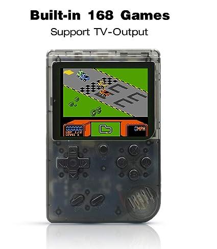 Anbernic Consolas de Juegos Portátil , Consolas de Juegos de Mano Retro FC Handheld Game Console 3 Pulgadas 168 Classic Game Console -Transparent ...